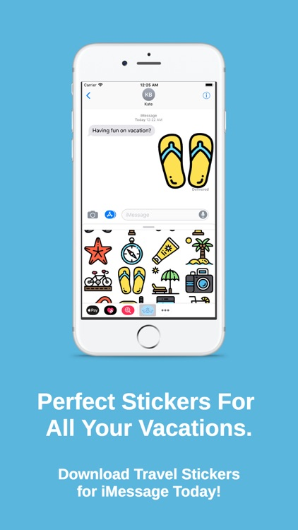 Travel Stickers for iMessage screenshot-3