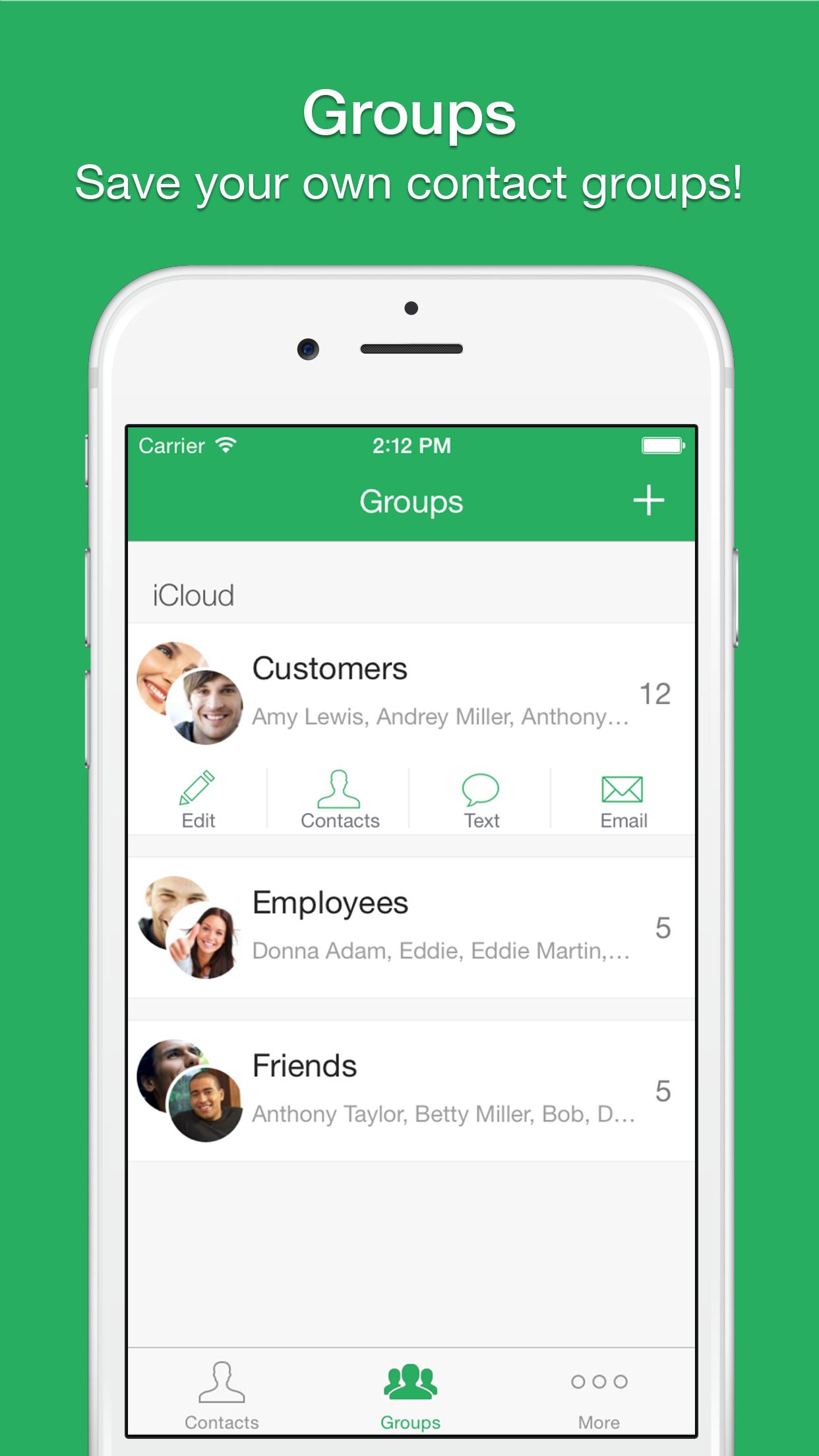 Text 2 Group Screenshot