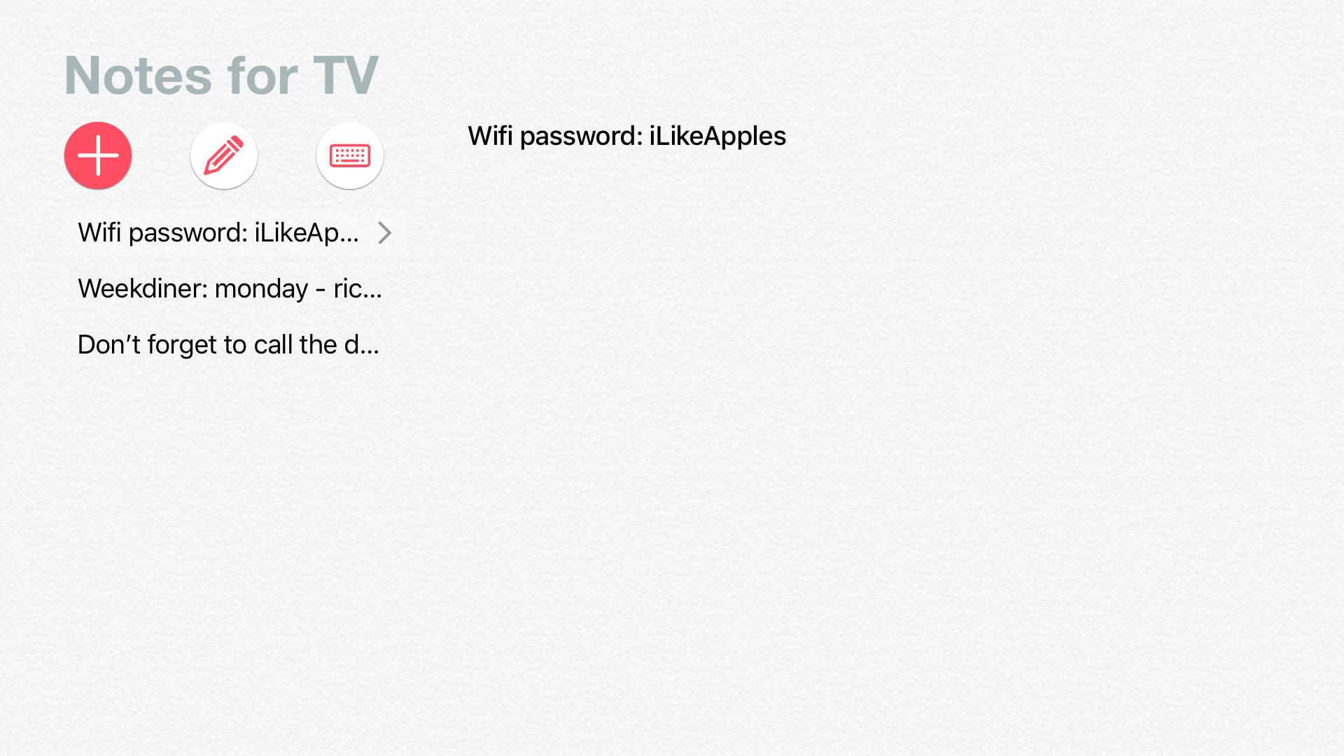 Notes for TV screenshot 1