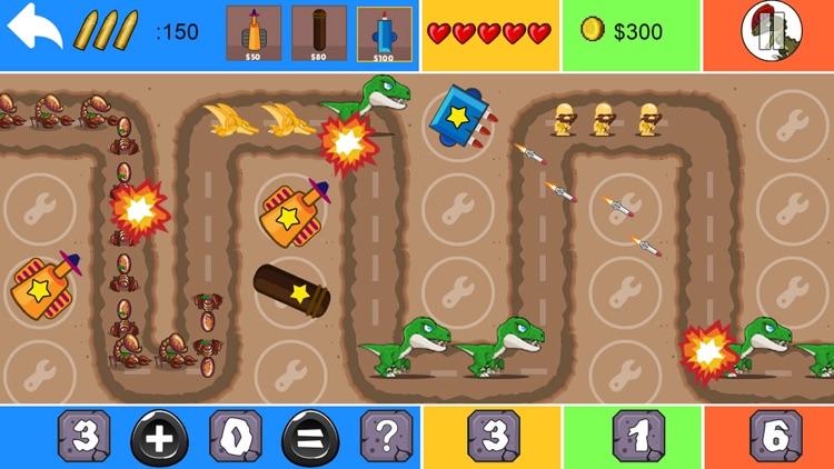 Dinosaur Math Tower Defense screenshot-3