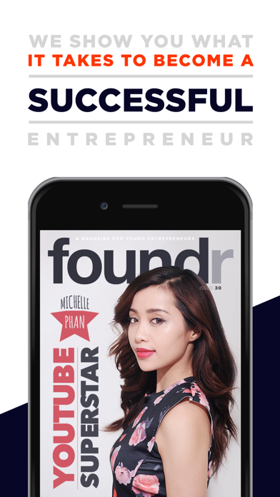 AAA+ Foundr - Entrepreneur Magazine for a Startup Screenshot