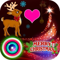 Lovely Christmas Photo Collage Art & Xmas Stickers