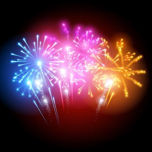 Animated Fireworks Sticker GIF