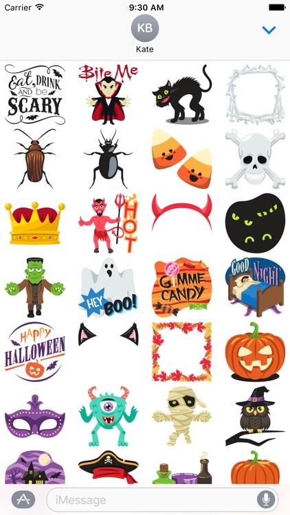 Halloween Party: Stickers by EmojiOne screenshot-3