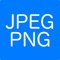 This is an application for converting image file formats to JPEG or PNG