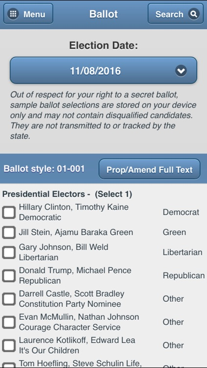 GeauxVote Mobile screenshot-2