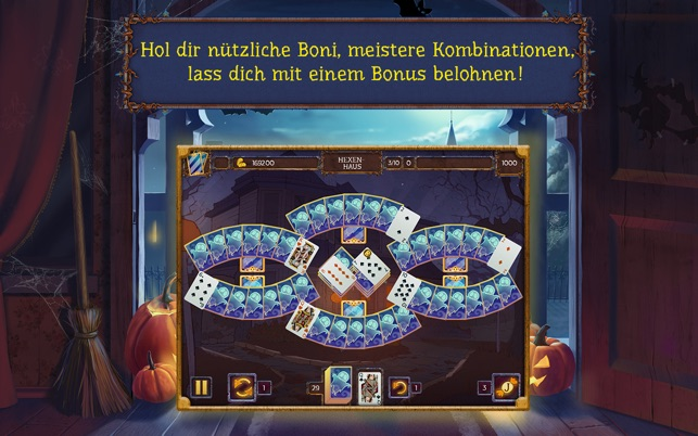 Solitaire game Halloween 2 Screenshot