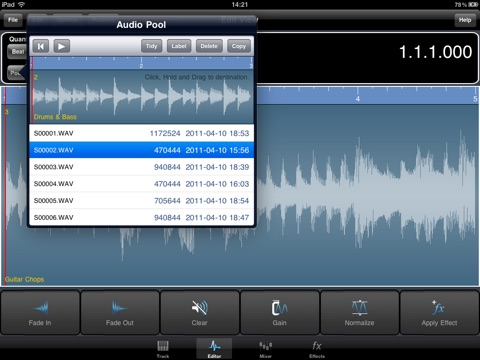 Screenshot #5 pour Meteor Multitrack Recorder