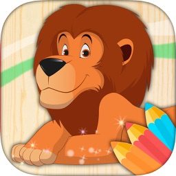 Learning game to paint animals, color for children