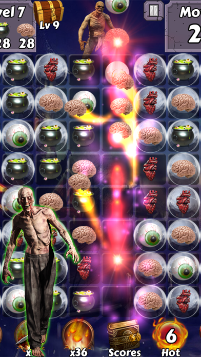 Zombie Mania Halloween World - Free puzzle games for trick or treat screenshot two