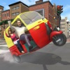 Tuk Tuk Auto Rickshaw Taxi Driver 3D Simulator: Crazy Driving in City Rush