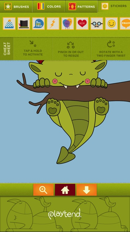 Monster Coloring Book screenshot-3
