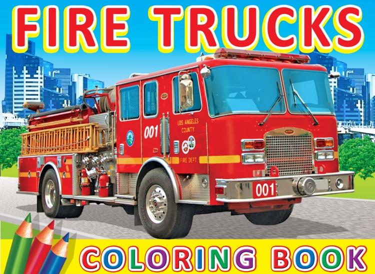 Fire Trucks - Coloring Book