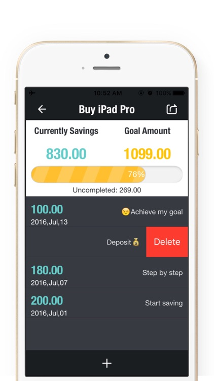 Daily Savings Goals - Savings Goals Plan,Money Box screenshot-1