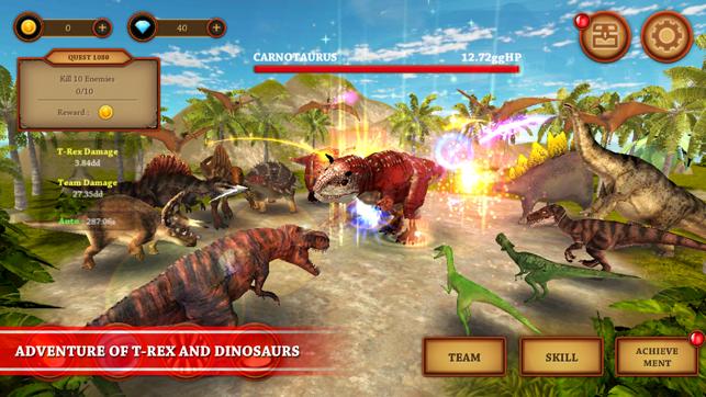 Dinosaur Fighting Game   T-Rex Adventure Simulator on the