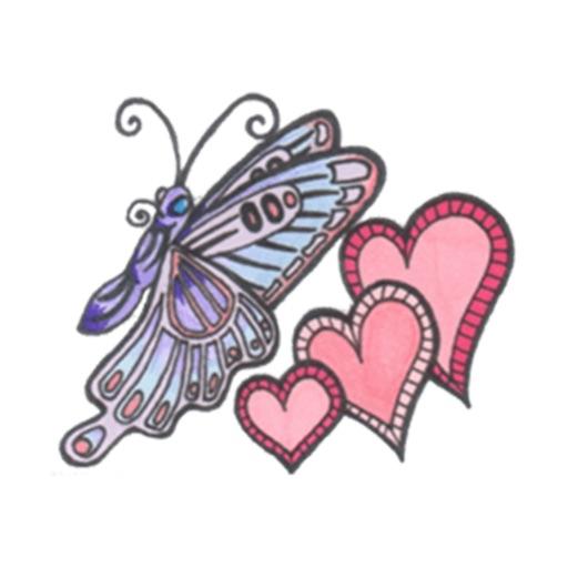 Flower Butterfly Sticker