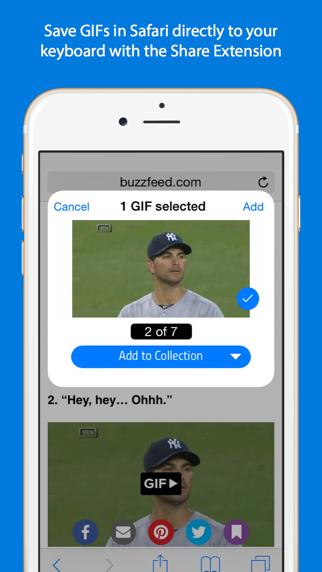 Screenshot for GIF Keyboard in Lebanon App Store