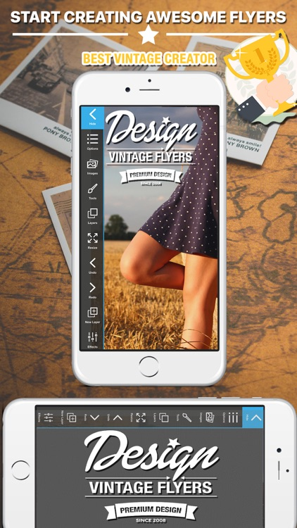 Vintage Logo & Poster Maker screenshot-0