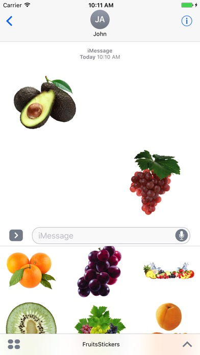Best Fruits for iMessage screenshot 1