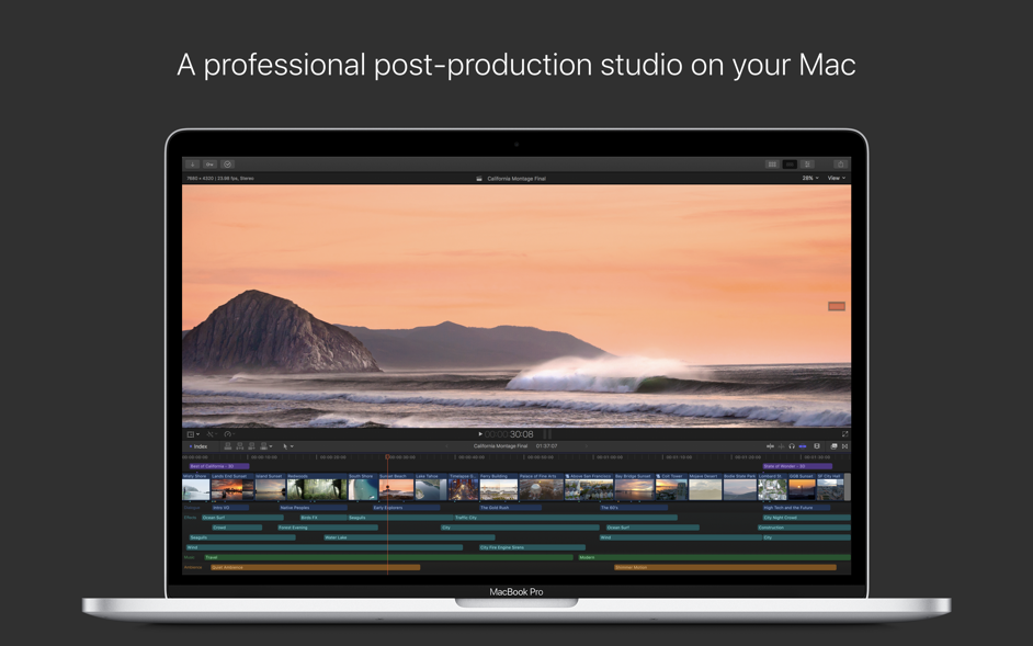 Final Cut Pro X 10 4 6 – Professional video editing solution