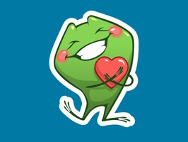 Cartoon Frog - Stickers for iMessage