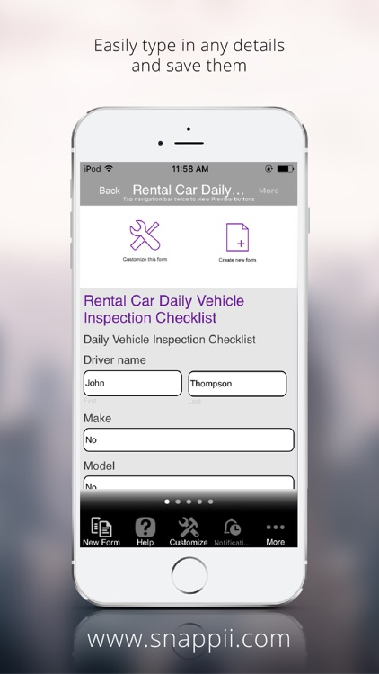 Rental Car Daily Vehicle Inspection Checklist