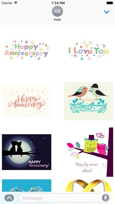 Happy Anniversary Sticker PackScreenshot von 1