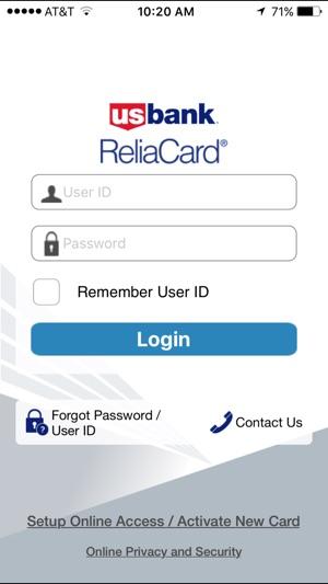 us bank reliacard iphone app