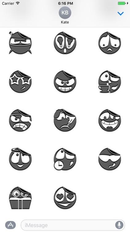 Grey Smileys Stickers screenshot-3
