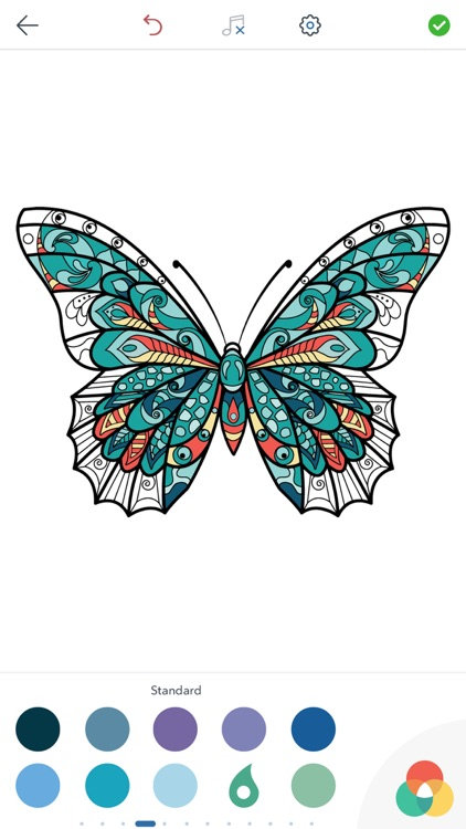 Adult Butterfly Coloring Book screenshot-4