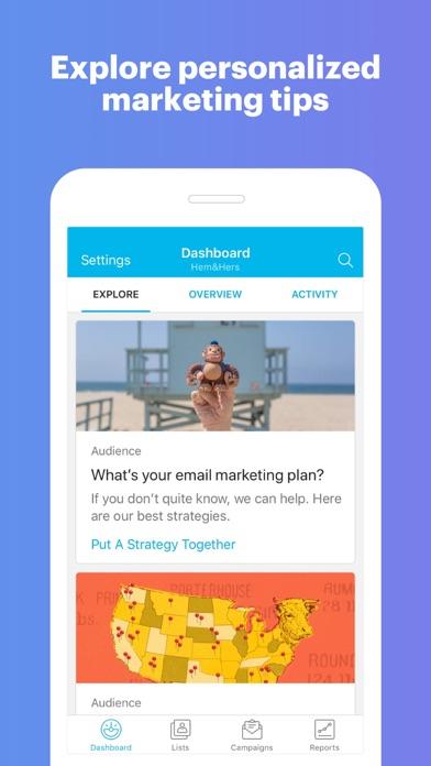 Screenshot 3 for MailChimp's iPhone app'