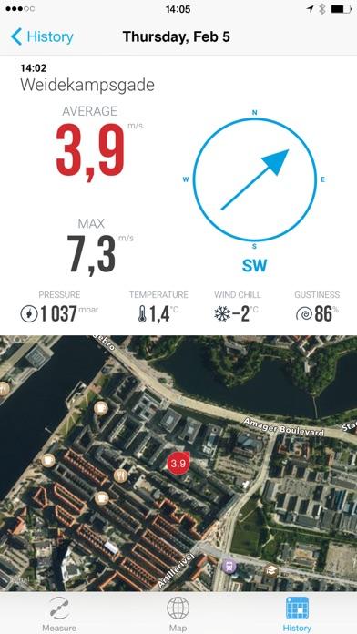 Vaavud Wind Meter Screenshot