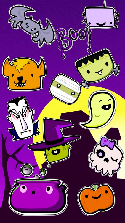 Halloween Stickers Box of Boos