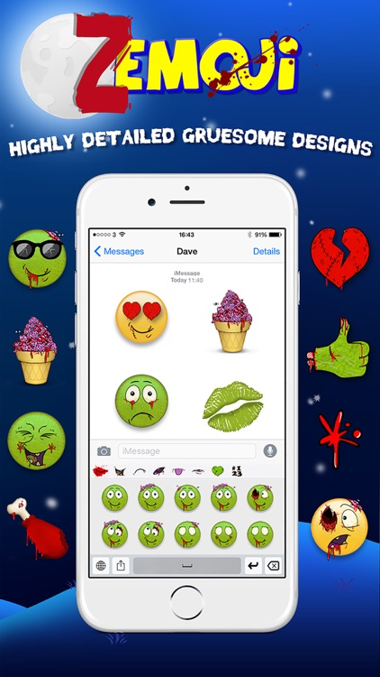 Zemoji Zombie Emoji - Halloween iMessage Stickers screenshot-4