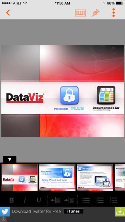 Docs To Go Free screenshot-4