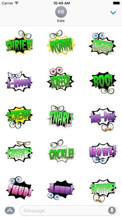 Shriek! Spooky Sound Comic Bubbles
