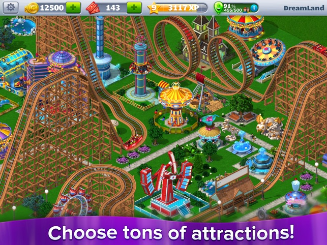 RollerCoaster Tycoon® 4Mobile™ Capture d'écran