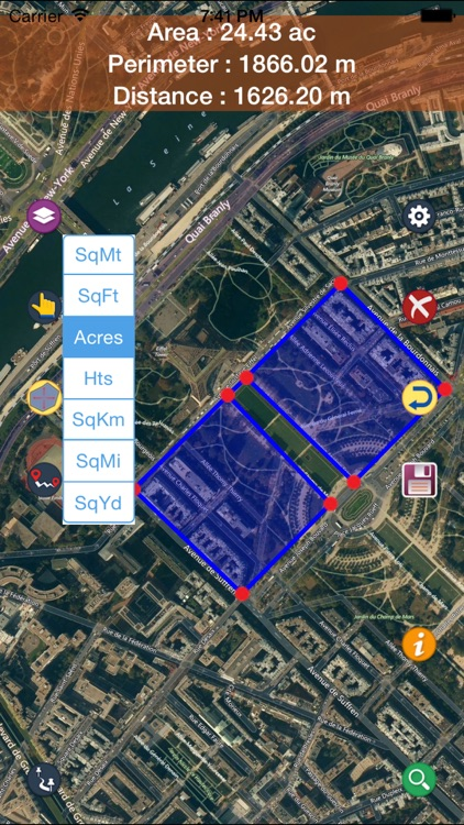 Area Distance Perimeter Measurement for Map on GPS app image
