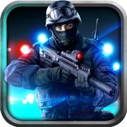警察反恐怖主义特警射击在犯罪城市