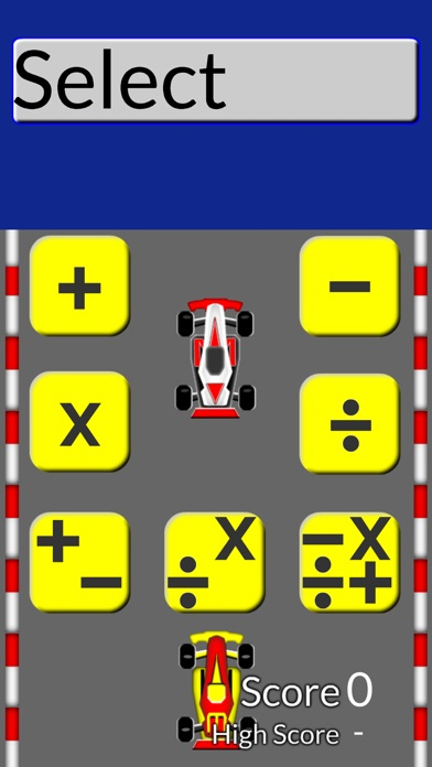 Math Drill Racing Flash Cards Screenshot