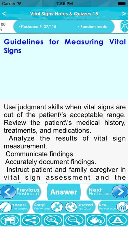 Vital Signs Exam : 2500 Quiz & Study Notes screenshot-3