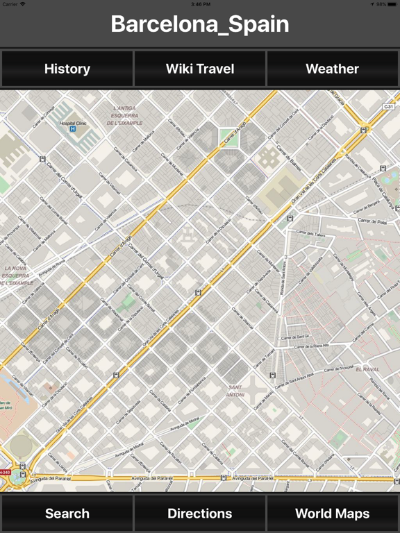 Map 9f Spain.Barcelona Spain Travel Map App Price Drops