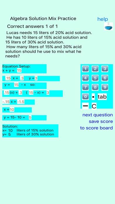 Algebra Solution Mix Practice   App Price Drops