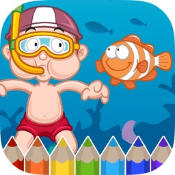 Sea Animals Coloring Book - Painting Game for Kids