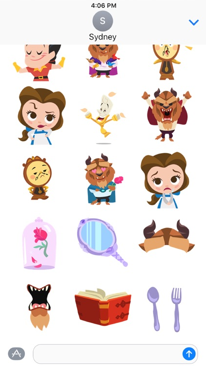 Disney Stickers: Beauty and the Beast