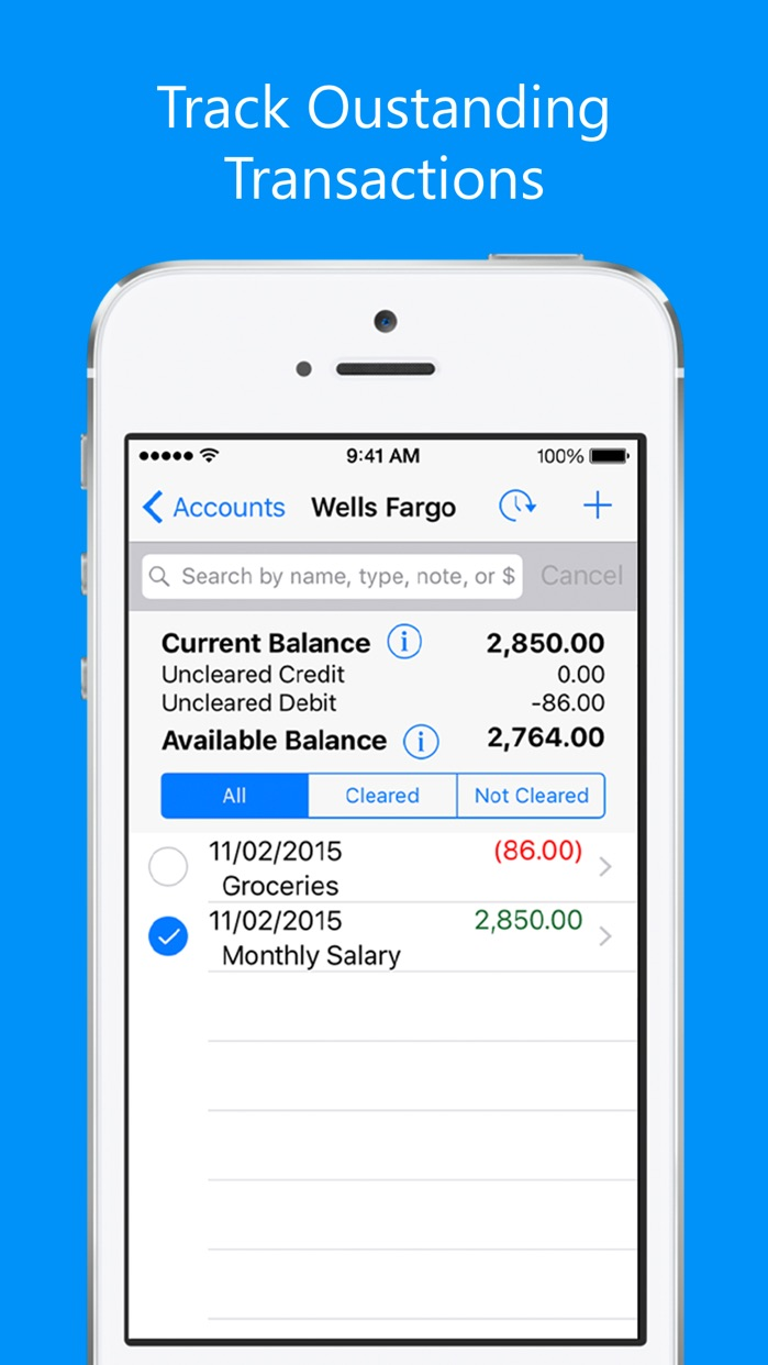 Balance My Checkbook FREE,Check Register With Sync Screenshot