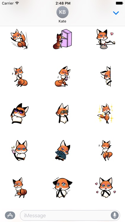 Fox Girl Beautiful Sticker For iMessages