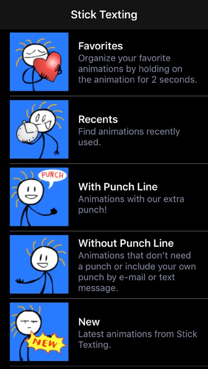 Stick Texting Lite screenshot-0