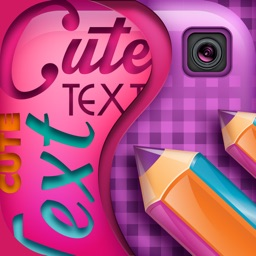 Cute Text on Pictures App: Edit Photos and Add Captions and Messages for Decoration