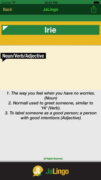JaLingo - Jamaican Dictionary/Translator screenshot-3